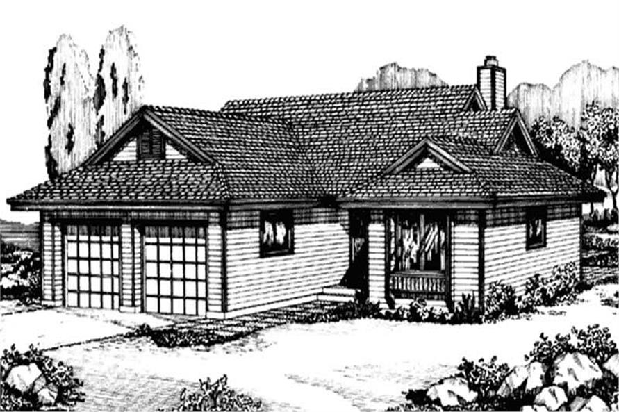 Front View to this home design