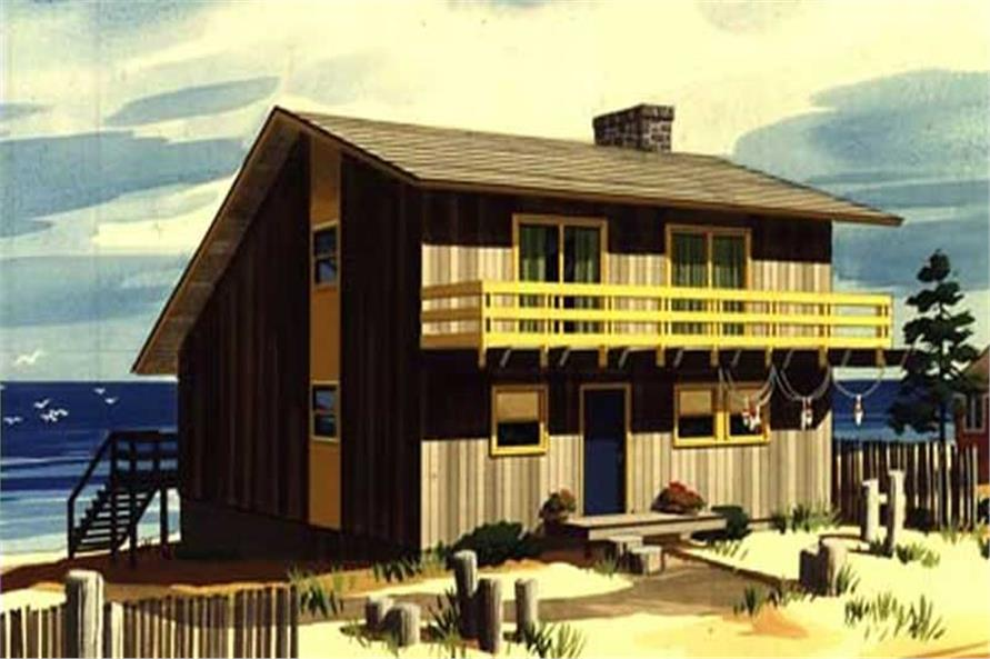 This is a colored elevation of Beachfront House Plans LS-H-5.