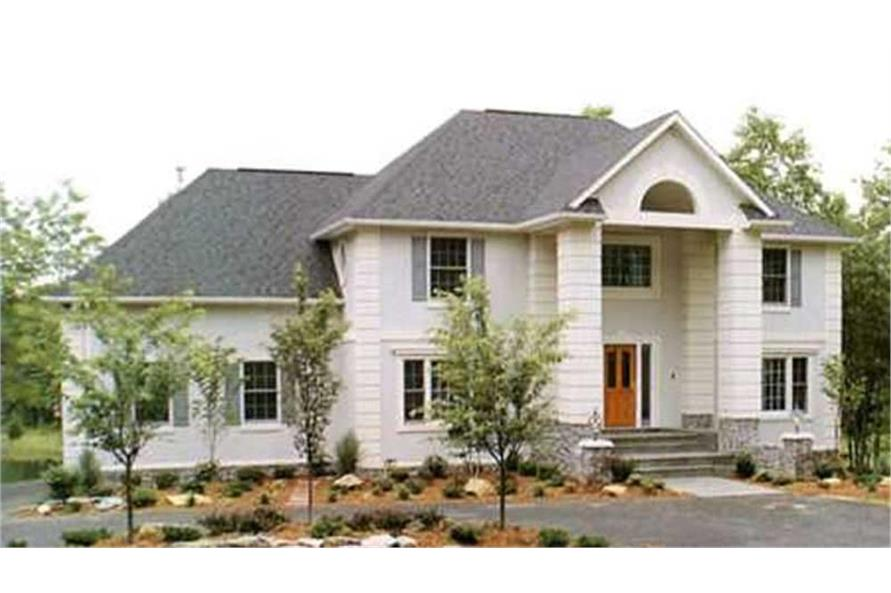 3-Bedroom, 2493 Sq Ft Colonial Home Plan - 146-1129 - Main Exterior