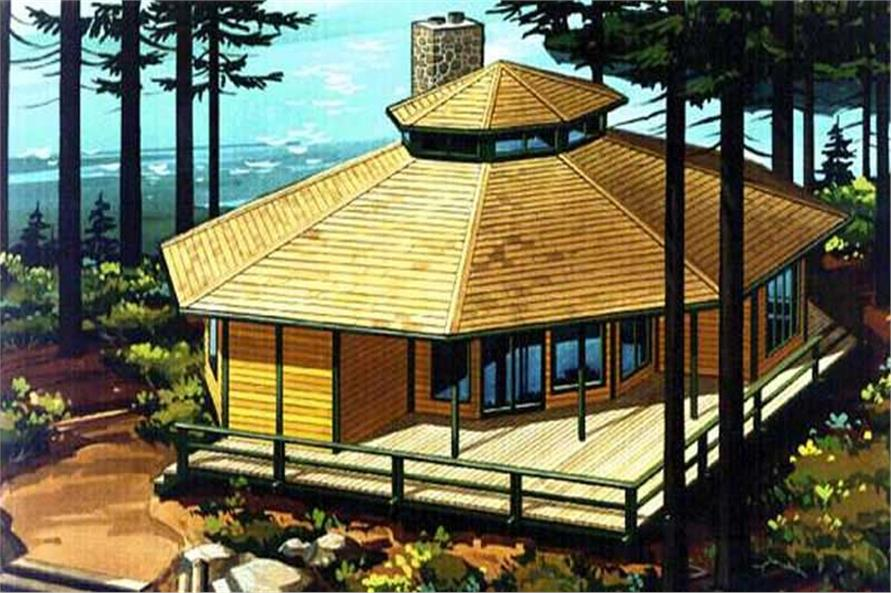 This is a colored rendering of vacation homeplans LS-H-2.