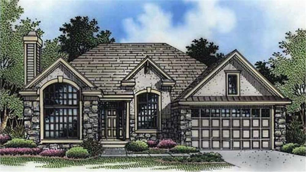 This is the front elevation of these Ranch Homeplans LS-B-94024.