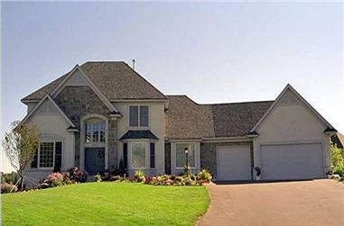 3-Bedroom, 4591 Sq Ft European Home Plan - 146-1135 - Main Exterior