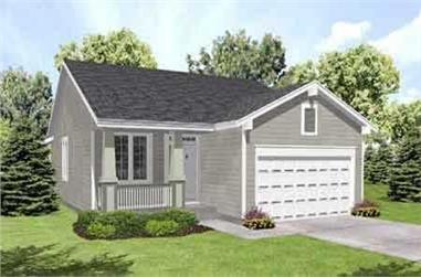 2-Bedroom, 1234 Sq Ft Country Home Plan - 146-1137 - Main Exterior