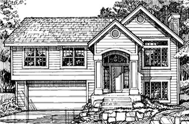 3-Bedroom, 1203 Sq Ft Country House Plan - 146-1138 - Front Exterior