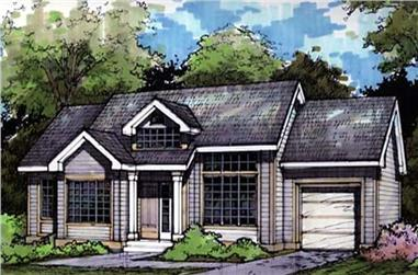 3-Bedroom, 1135 Sq Ft Country House Plan - 146-1139 - Front Exterior