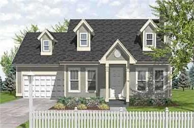 3-Bedroom, 1315 Sq Ft Cape Cod Home Plan - 146-1141 - Main Exterior