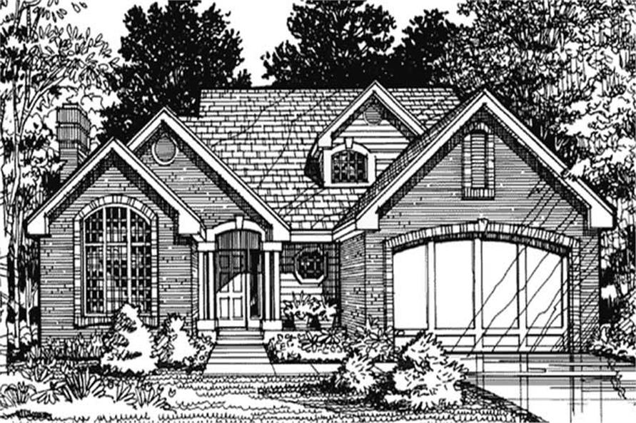 Country House Plans LS-B-90057 Front Elevation.