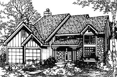 3-Bedroom, 1896 Sq Ft Country Home Plan - 146-1148 - Main Exterior