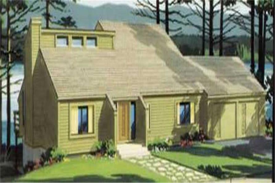 3-Bedroom, 1533 Sq Ft Cape Cod Home Plan - 146-1158 - Main Exterior