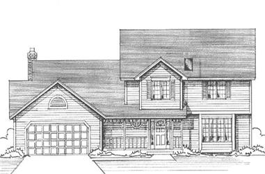 4-Bedroom, 2428 Sq Ft Country Home Plan - 146-1163 - Main Exterior