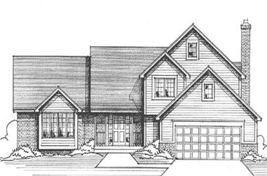 3-Bedroom, 2355 Sq Ft Country House Plan - 146-1164 - Front Exterior