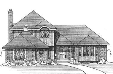 3-Bedroom, 2138 Sq Ft European House Plan - 146-1165 - Front Exterior