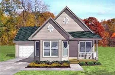 3-Bedroom, 1179 Sq Ft Country House Plan - 146-1170 - Front Exterior