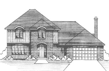 4-Bedroom, 2460 Sq Ft Colonial Home Plan - 146-1178 - Main Exterior