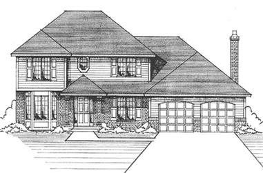 3-Bedroom, 2309 Sq Ft Colonial House Plan - 146-1179 - Front Exterior