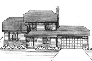 3-Bedroom, 1987 Sq Ft Craftsman House Plan - 146-1180 - Front Exterior