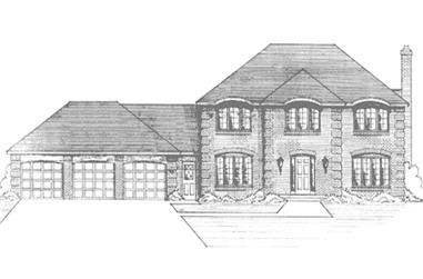 4-Bedroom, 2501 Sq Ft Colonial House Plan - 146-1181 - Front Exterior