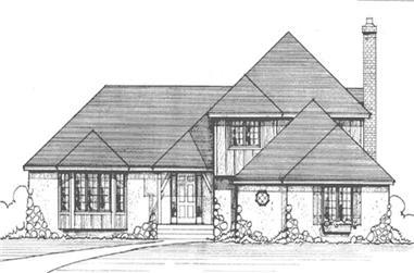 3-Bedroom, 2273 Sq Ft European House Plan - 146-1183 - Front Exterior