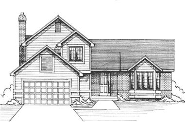 3-Bedroom, 2086 Sq Ft Country House Plan - 146-1184 - Front Exterior