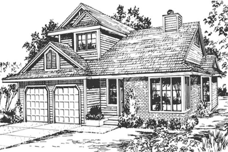 Country House Plans - Home Design LS-H-3744-1A