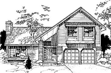 4-Bedroom, 2128 Sq Ft Country Home Plan - 146-1189 - Main Exterior