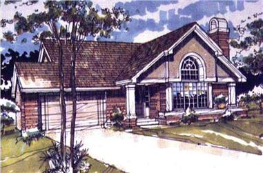 2-Bedroom, 1368 Sq Ft Country House Plan - 146-1190 - Front Exterior