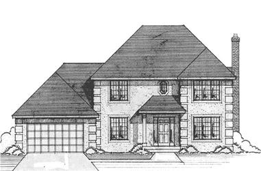 4-Bedroom, 2353 Sq Ft French House Plan - 146-1192 - Front Exterior