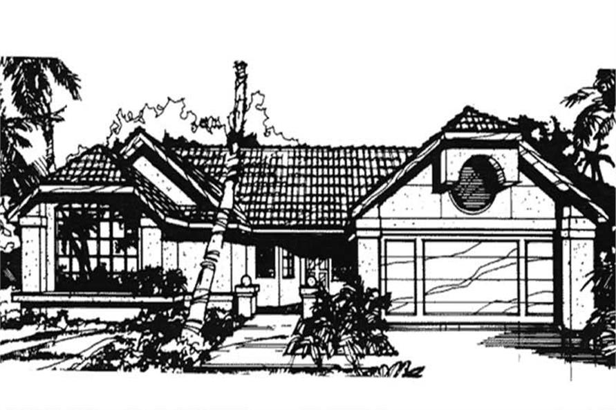 Southwestern Homeplans LS-B-90504 front elevation.