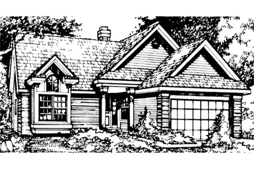 3-Bedroom, 1390 Sq Ft Country Home Plan - 146-1198 - Main Exterior