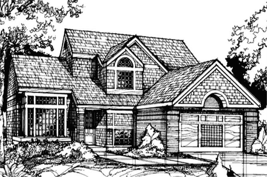 Front Elevation of Country Home Plans.