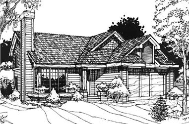 4-Bedroom, 2443 Sq Ft Country House Plan - 146-1203 - Front Exterior