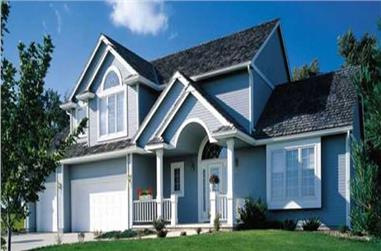 3-Bedroom, 2445 Sq Ft Country House Plan - 146-1204 - Front Exterior