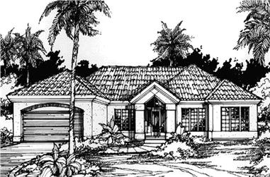 4-Bedroom, 2634 Sq Ft Florida Style House Plan - 146-1206 - Front Exterior