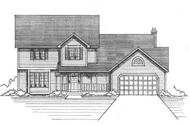 4-Bedroom, 2428 Sq Ft Country Home Plan - 146-1207 - Main Exterior