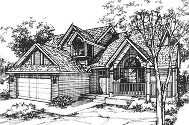 3-Bedroom, 2109 Sq Ft Country Home Plan - 146-1215 - Main Exterior