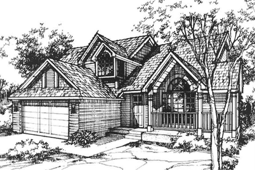 Front elevation image for Country Home Plans LS-B-89501.