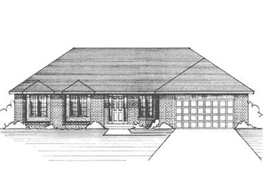 3-Bedroom, 1938 Sq Ft Ranch House Plan - 146-1217 - Front Exterior