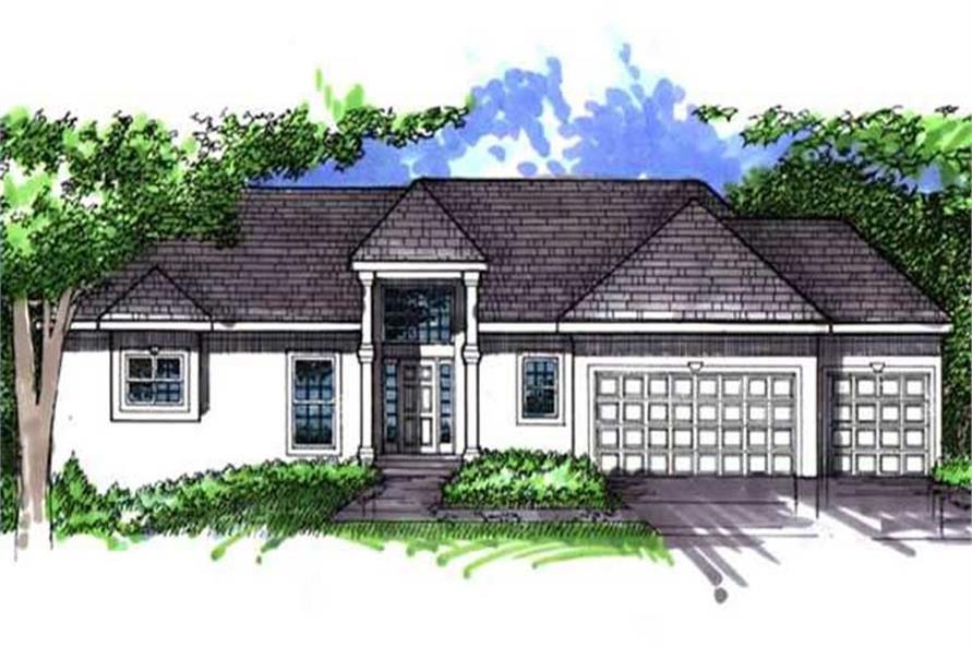 Main image for house plan # 21064