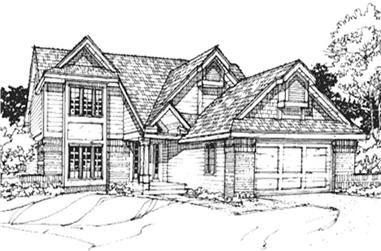 3-Bedroom, 2017 Sq Ft Country House Plan - 146-1221 - Front Exterior