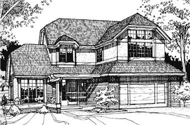 3-Bedroom, 1990 Sq Ft European Home Plan - 146-1225 - Main Exterior
