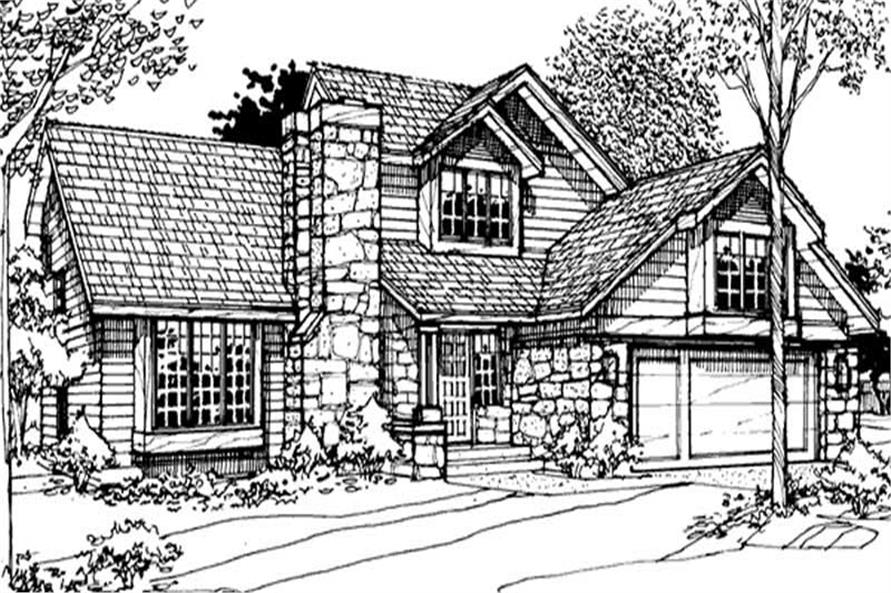 This image shows the Country/Ranch Style of this set of Home Plans.