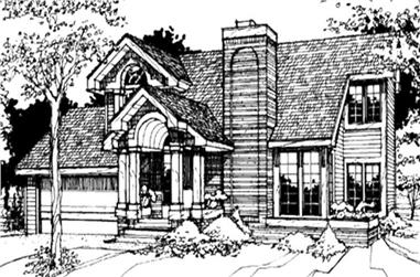 2-Bedroom, 1331 Sq Ft Contemporary Home Plan - 146-1228 - Main Exterior