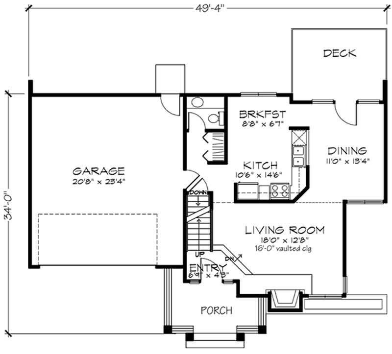 Contemporary, Multi-Level House Plans - Home Design LS-B ...