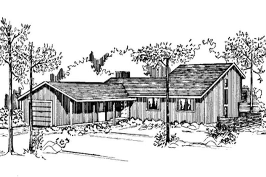 Home Plan Front Elevation of this 3-Bedroom,2190 Sq Ft Plan -146-1231