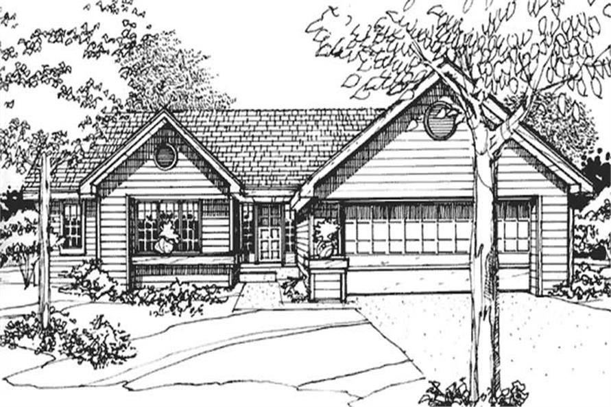 2-Bedroom, 1560 Sq Ft Ranch House Plan - 146-1232 - Front Exterior