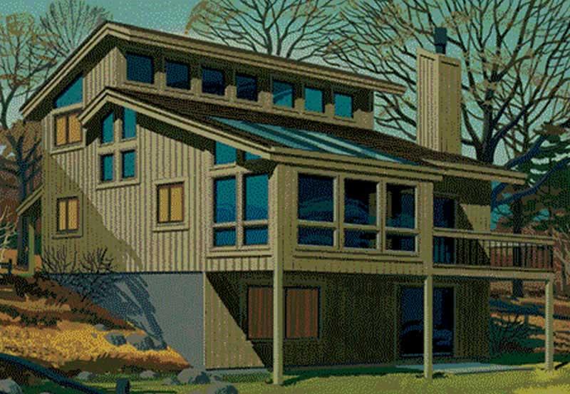 Passive Solar House Plans Home Design Ls H 9462 B
