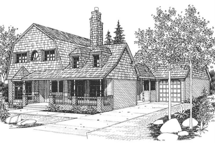 3-Bedroom, 3234 Sq Ft Country House Plan - 146-1244 - Front Exterior