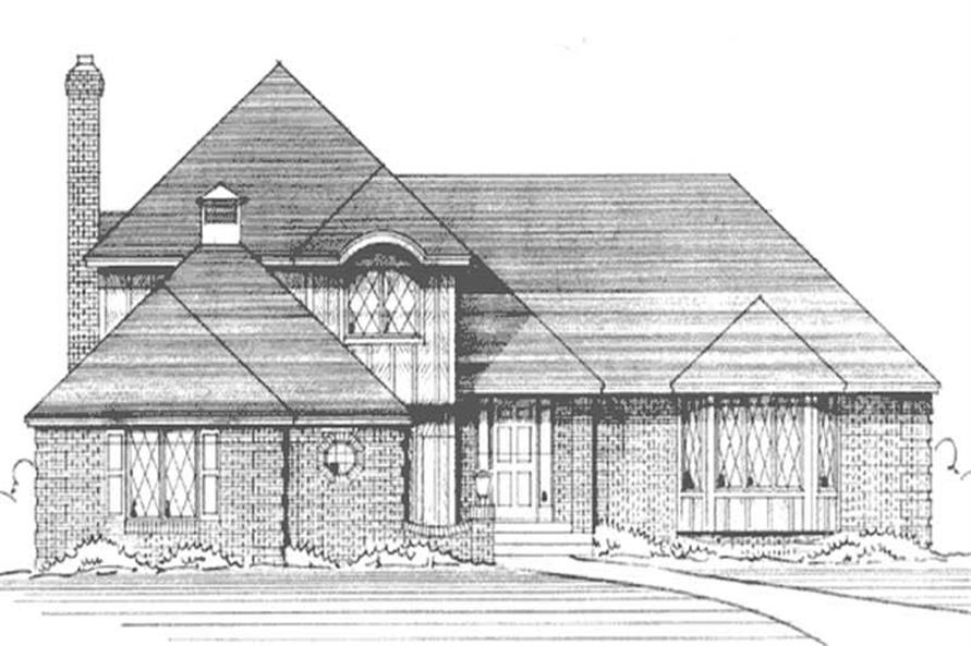 4-Bedroom, 2428 Sq Ft European Home Plan - 146-1245 - Main Exterior