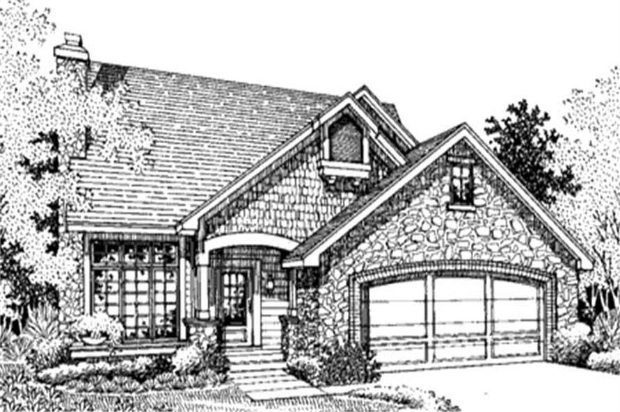 This image is the front elevation of Country House Plans LS-B-94027.