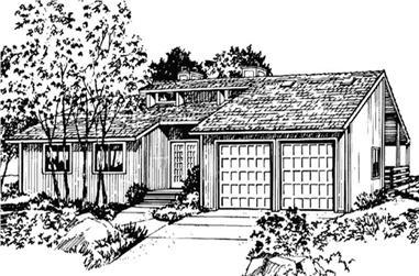 3-Bedroom, 1806 Sq Ft Ranch Home Plan - 146-1248 - Main Exterior